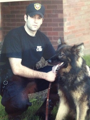 """Officer Joseph Brewer and K-9 """"Thom"""""""