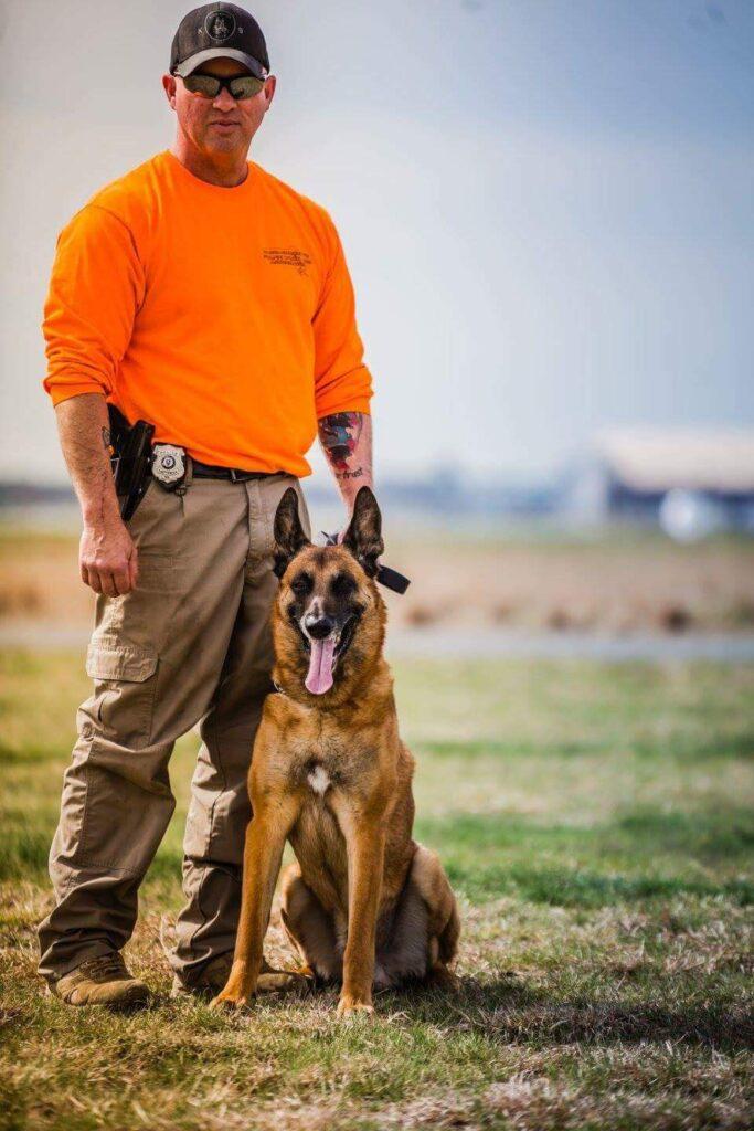"""Sgt. Thomas Krutka and K-9 """"Jax"""""""